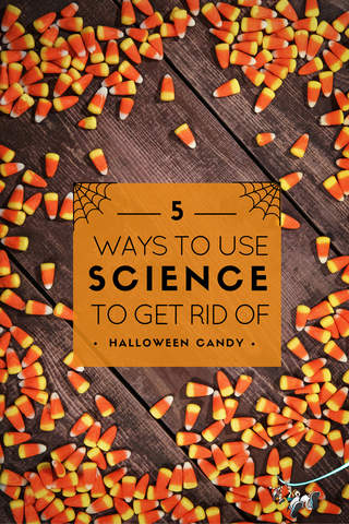 Don't want to your kids to eat all their Halloween candy? Here are five ways to use science to have fun as you get rid of the candy!