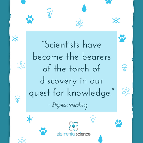 """Scientists have become the bearers of the torch of discovery in our   quest for knowledge."" ~ Stephen Hawking"