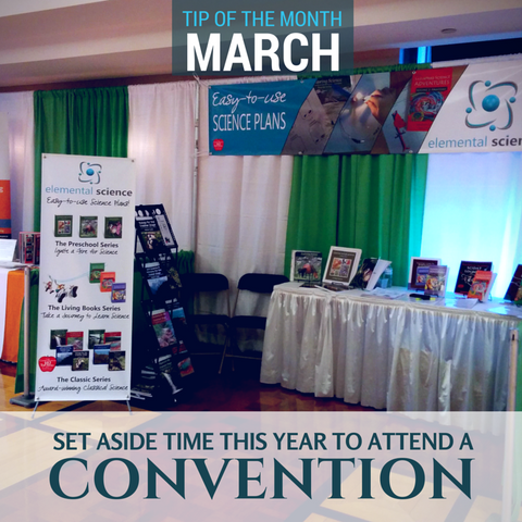 Homeschool Science Tip - Set aside time this year to attend a homeschool convention.