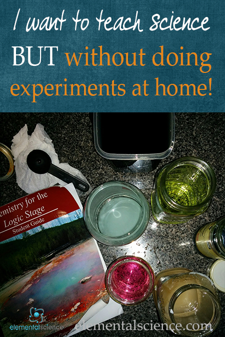 Do you struggle with the thought of having to do experiments at home? Get some help with this aspect of teaching science at home!