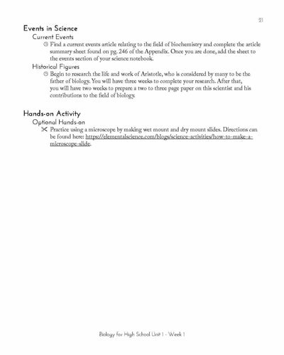 Biology for High School eBook Guide