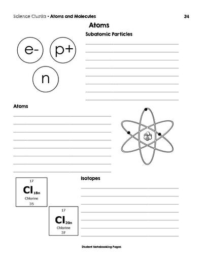 Science Chunks Atoms and Molecules Unit