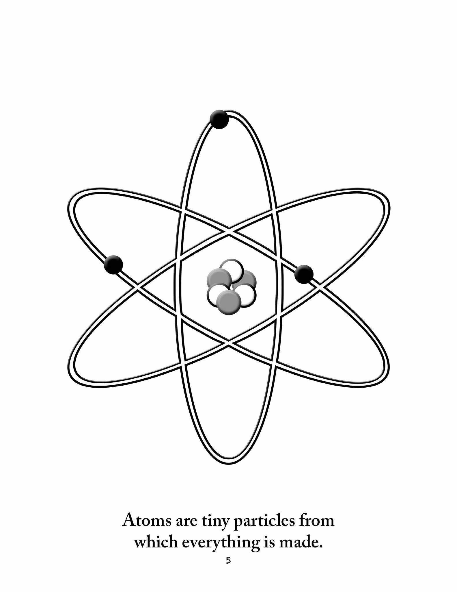 Atom And Molecule Coloring Pages Sketch Coloring Page