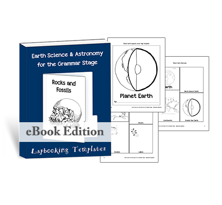 Creatively document your homeschool earth science & astronomy plans with these lapbooking templates.