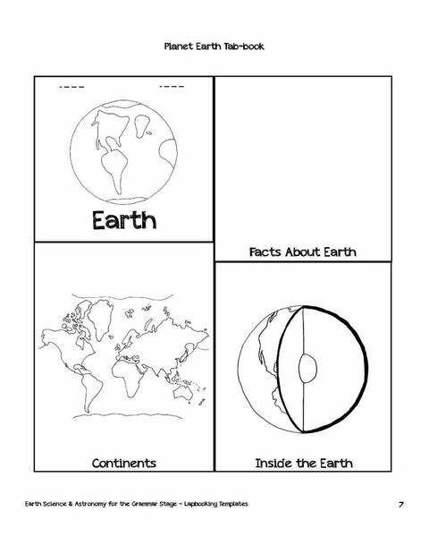Earth Science & Astronomy Lapbooking Templates (eBook)