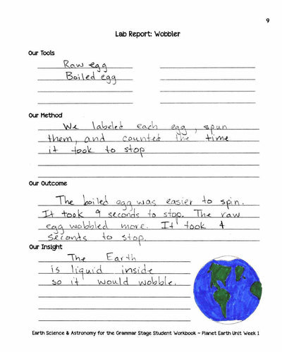 Classical Science Plans - Earth Science & Astronomy For The Grammar Stage Printed Combo