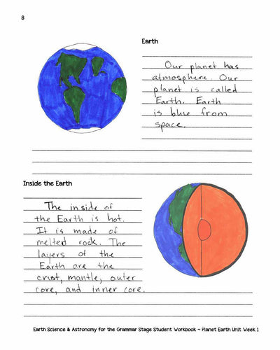 Classical Science - Earth Science & Astronomy For The Grammar Stage Student Workbook