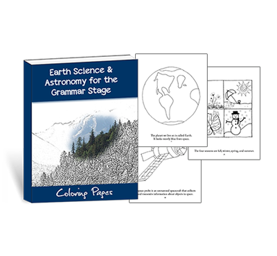 Earth Science & Astronomy for the Grammar Stage Coloring Pages