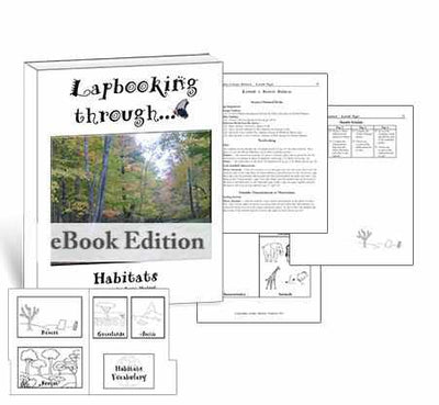 Get the templates and lessons you need to create a lapbook about habitats for homeschool science.