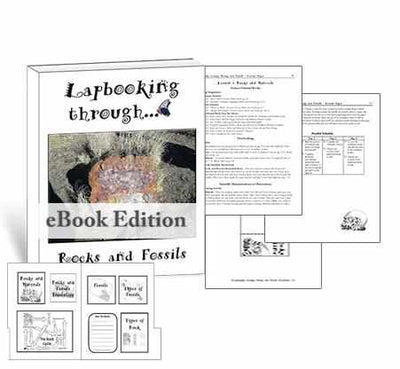 Get the templates and lessons you need to create a lapbook about rocks for homeschool science.
