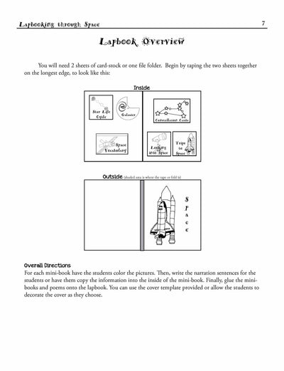 Lapbooks - Lapbooking Through Space (eBook)