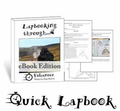 Lapbooks - Lapbooking Through Volcanoes {Quick Lapbook From Elemental Science}