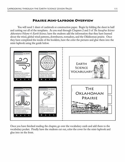 Living Books - Lapbooking Through Earth Science With The Sassafras Twins (eBook)