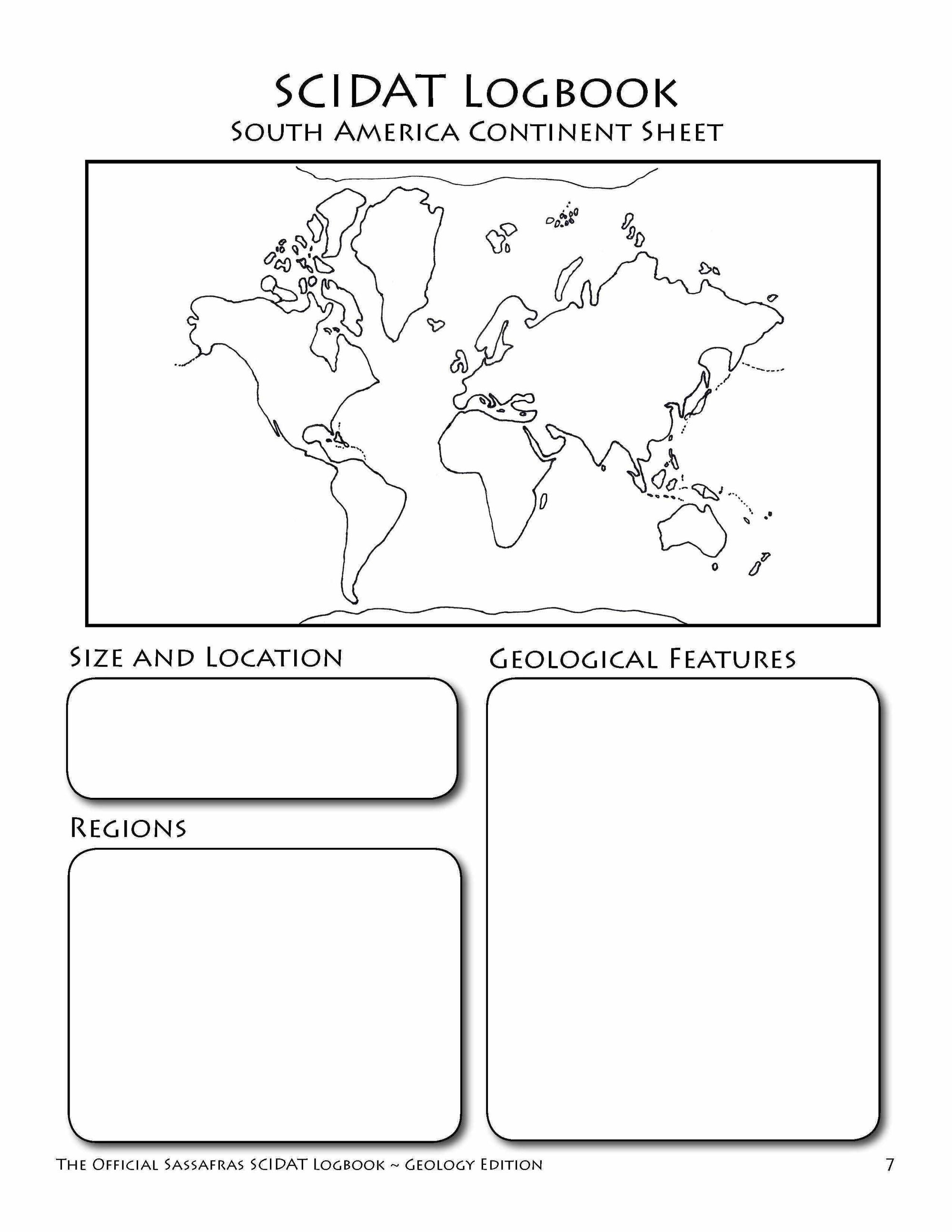 The Official Sassafras SCIDAT Logbook: Geology Edition