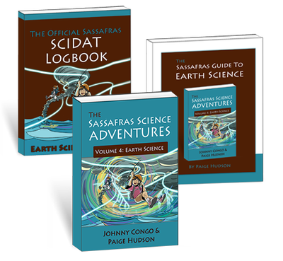 Living Books - The Sassafras Science Adventures Volume 4: Earth Science Printed Combo