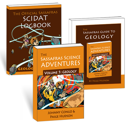 Living Books - The Sassafras Science Adventures Volume 5: Geology Printed Combo