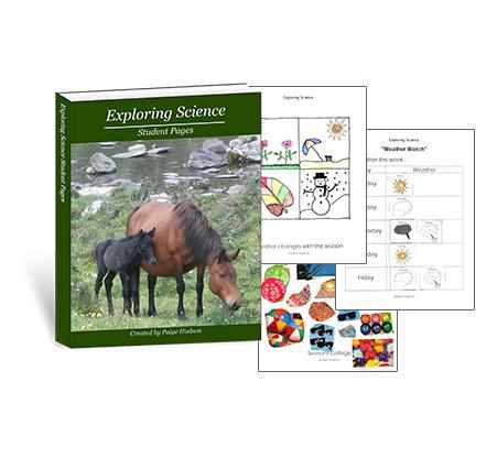 Your preschooler will love using these science pages to make his science scrapbook.