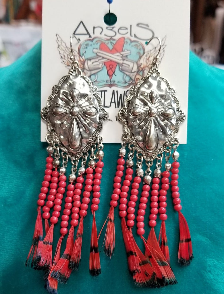 Concho Fabulous Earrings - Red