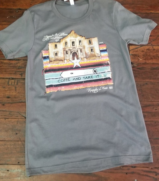 Come and Take It Alamo Tee - Grey