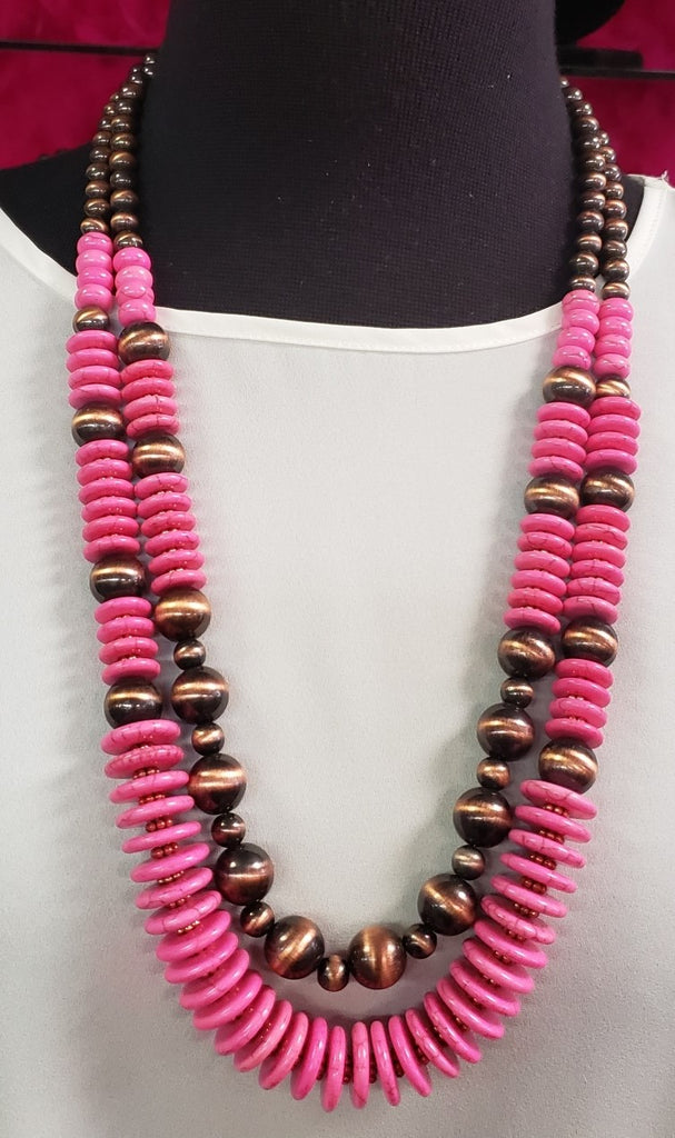 Melissa Necklace - Pink