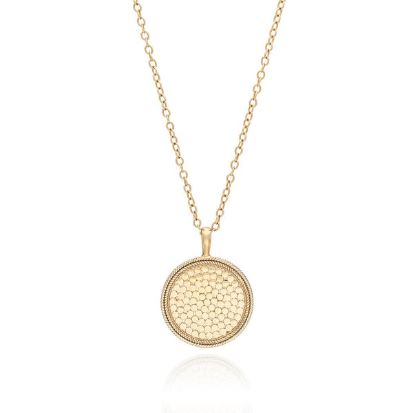 "Gold medallion 30"" necklace"