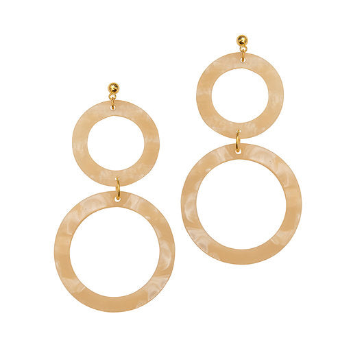 Cora Earrings - Linen