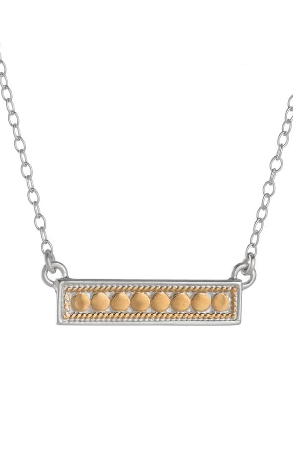 Bar necklace (reversible) - gold and silver