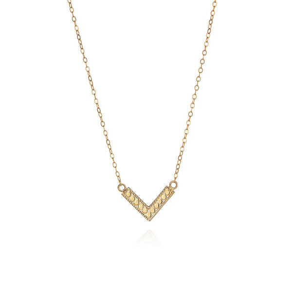 Mini Gold V Necklace