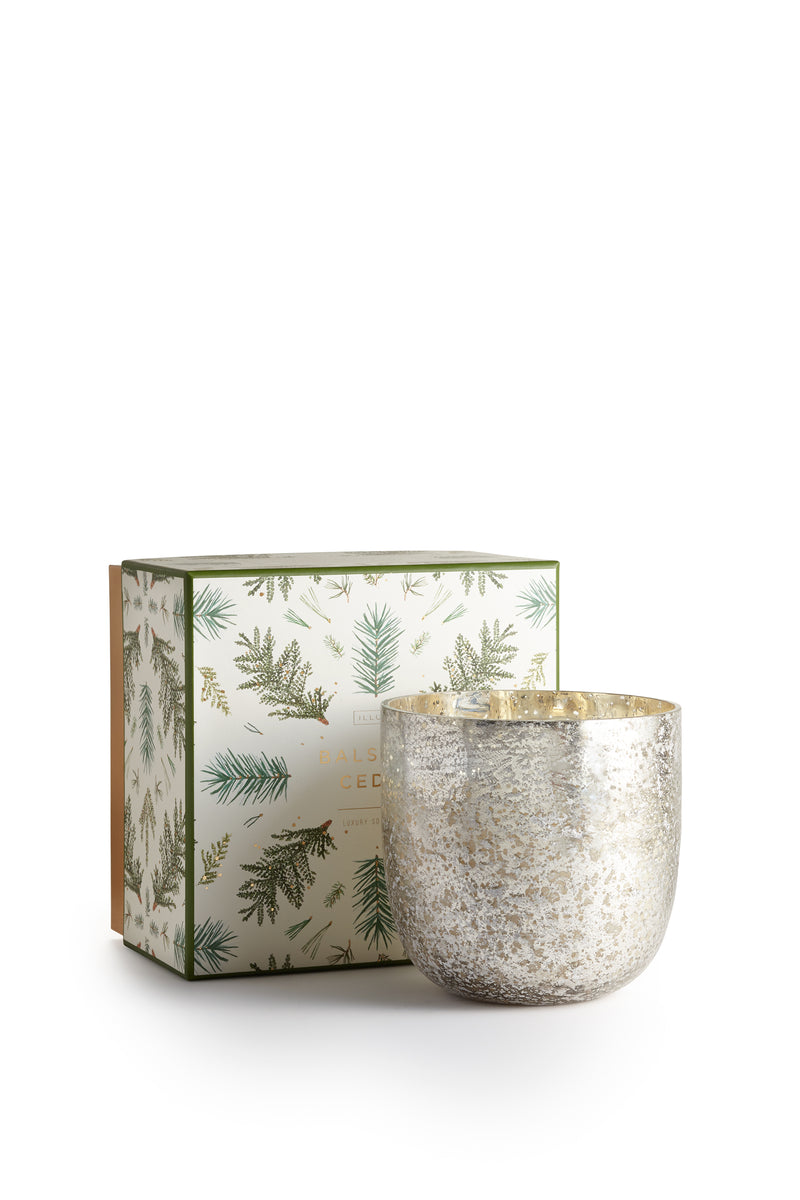 Balsam and cedar candle luxe glass