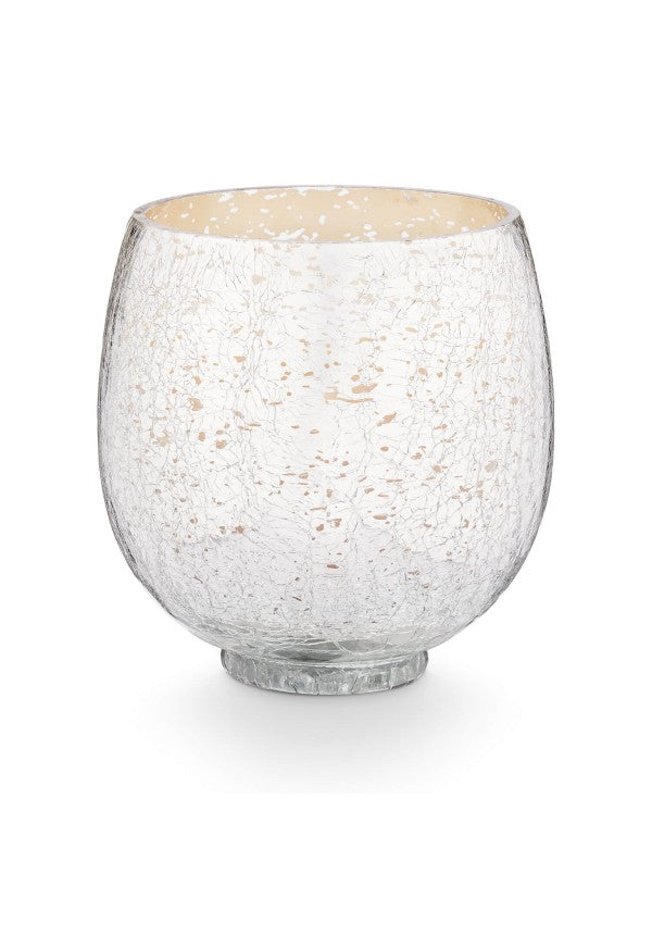 Crackle glass balsam and cedar candle