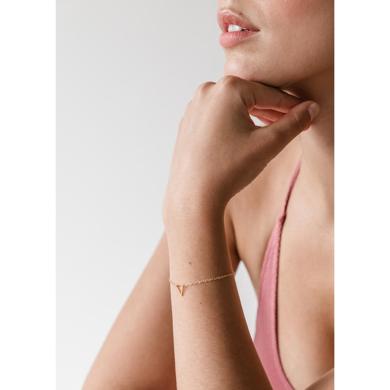 Fortis Triangle Gold Chain Bracelet
