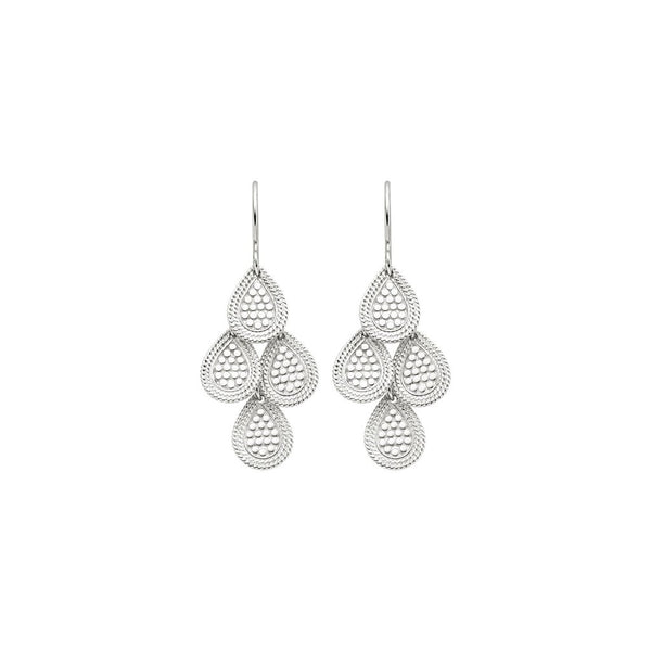 Chandelier earrings - silver