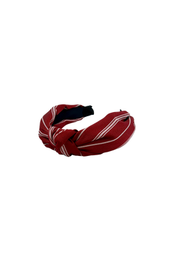 Dylan stripe headband - red