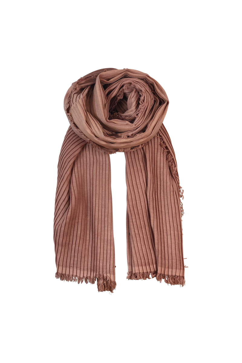 ELBA plissescarf - rose