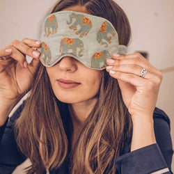 Elephant Eye Mask with Drawstring Bag