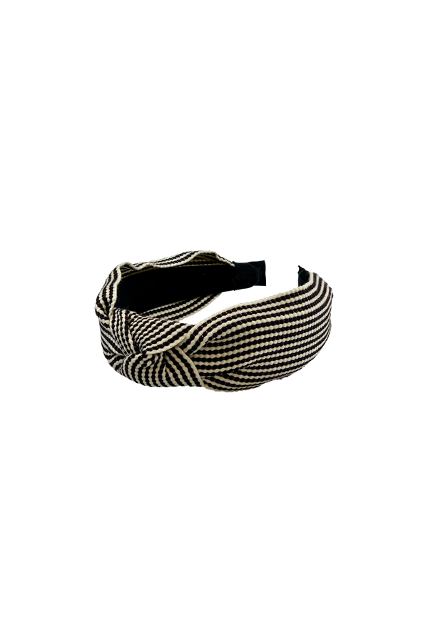 Fifi stripe headband - black