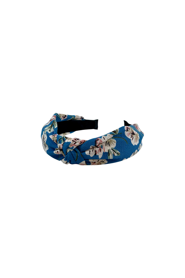 Headband blue flower print