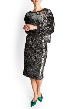 Shimmer Sequin Skirt