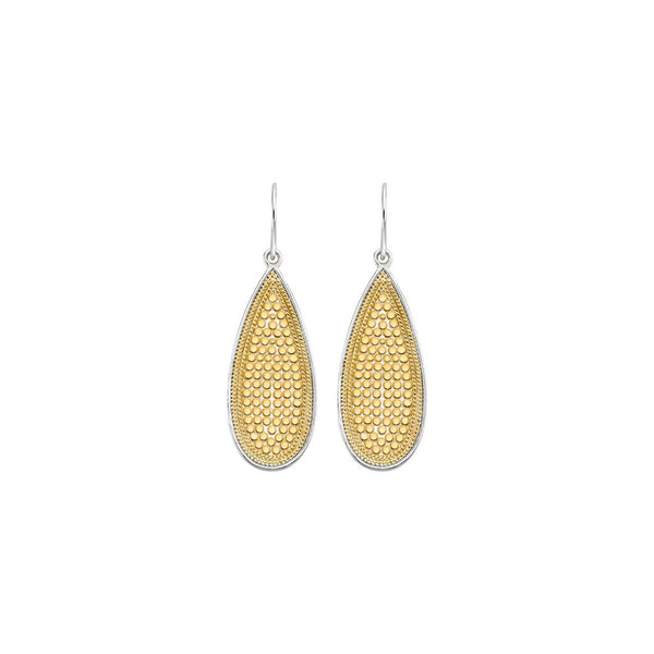 Long drop earrings - gold