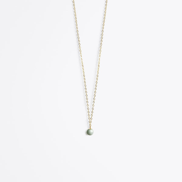 Globe fine chain necklace