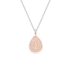 Teardrop necklace - rose gold