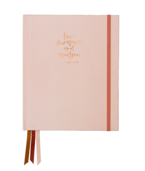 Blush 2019 weekly planner