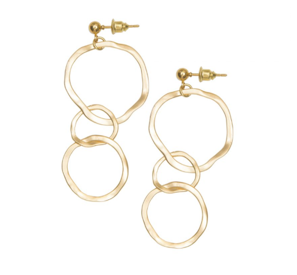 Gold cascading earrings