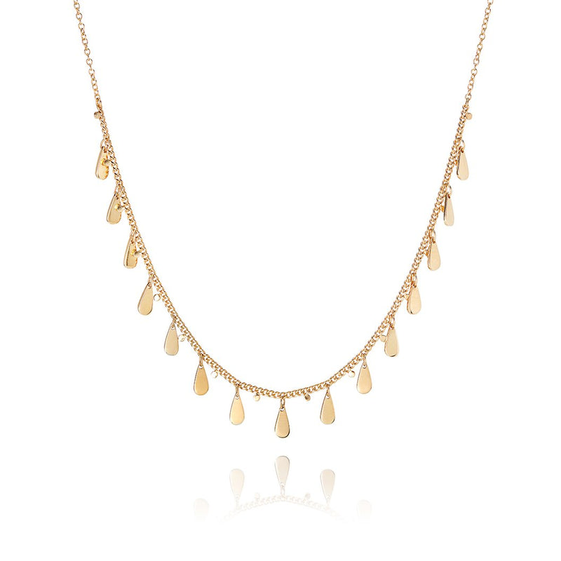 Signature Drop Charms Choker Necklace - gold
