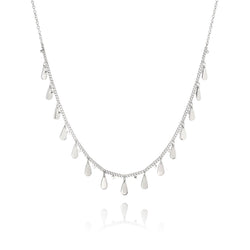 Signature Drop Charms Choker Necklace - silver