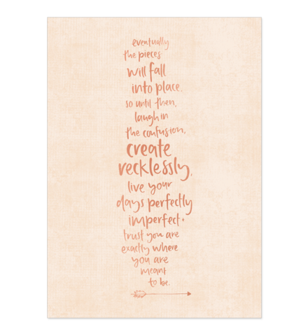 Create Recklessly A4 art print