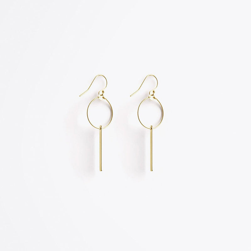 Aktis sculptural hoop earrings