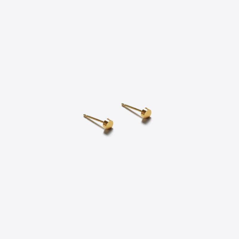 Unity Small Gold Circle Stud Earrings