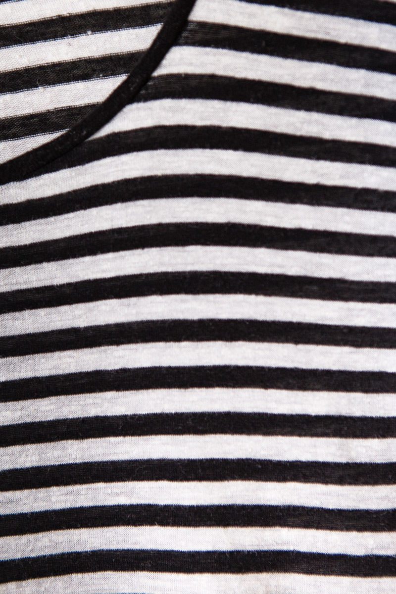 Stripes t-shirt white and black
