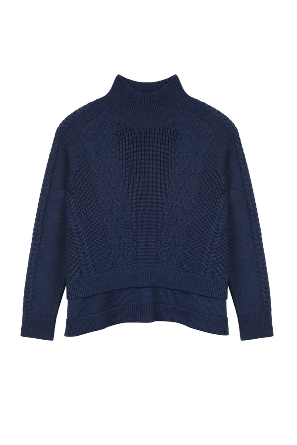 Nadine cable knit jumper - indigo